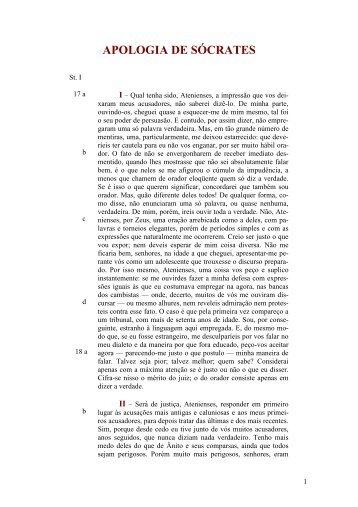 APOLOGIA DE SÓCRATES - Curso Independente de Filosofia
