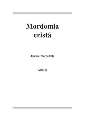 Mordomia cristã - Adventistas do 7º Dia - Movimento de Reforma