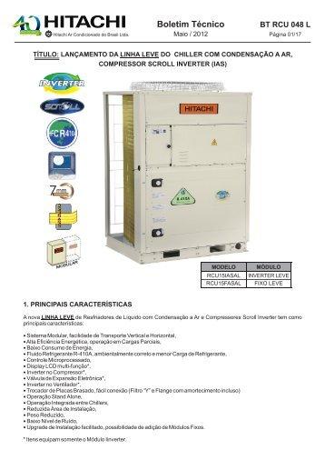 bt rcu 048 l lançamento linha leve chiller com condensação a ar