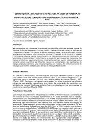 condenações não patológicas no abate de aves em ... - SOVERGS