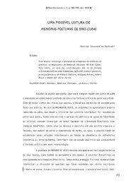 Uma Possível Leitura de Memórias Póstumas de Brás Cubas