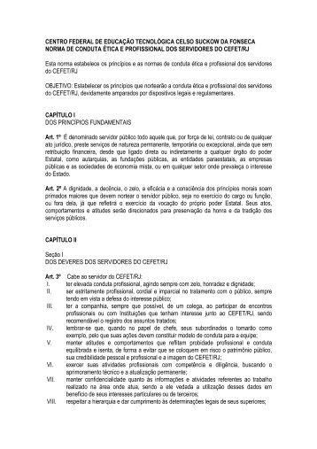 Norma de Conduta Ética - Cefet-RJ