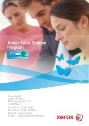Junior Sales Trainee Program - Xerox