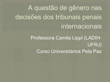 A questão de gênero nas decisões dos tribunais penais internacionais