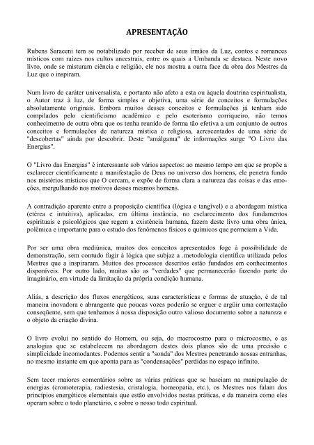 PARA RUBENS GRÁTIS DE DOWNLOAD SARACENI LIVROS