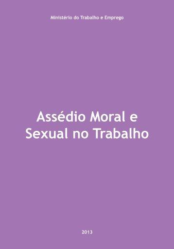 Cartilha Assédio Moral e Sexual no Trabalho - Ministério do ...