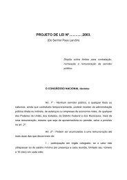 projeto de lei nº............. 2003.