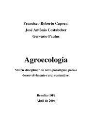 Agroecologia: matriz disciplinar ou novo paradigma para o