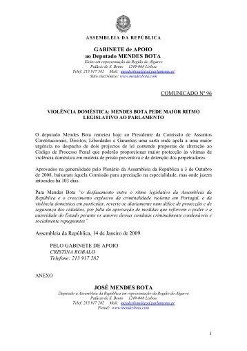 SUB-COMISSO DE TURISMO - Mendes Bota