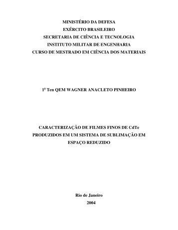 MINISTÉRIO DA DEFESA EXÉRCITO BRASILEIRO ... - IME