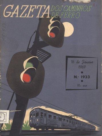 Gazeta dos Caminhos de Ferro, N.º 1933 (16 de Janeiro de 1969)