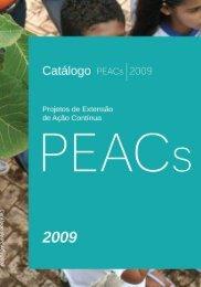 Catálogo PEACs 2009 - Universidade de Brasília