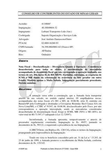 Microsoft Word - 413006\252.doc - Secretaria de Estado de ...