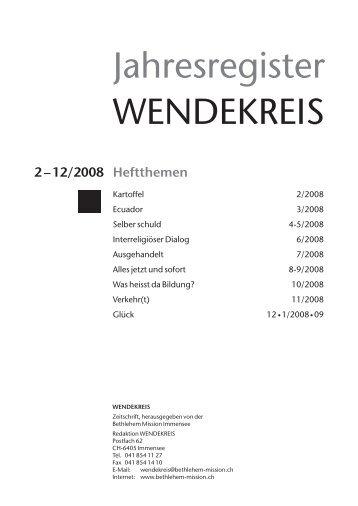 Heftthemen - Wendekreis