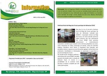 Maio - Sindicato Rural de Mogi das Cruzes