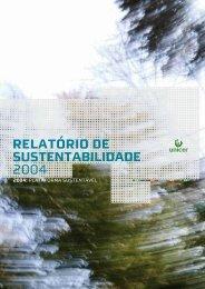 Relatório de sustentabilidade 2004 - Unicer