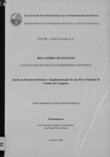 RELATÓRIO DE EsTÁGIo - Repositório Aberto da Universidade do ...