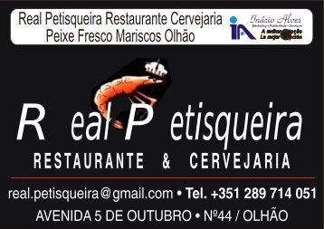 Real Petisqueira restaurante cervejaria peixe fresco mariscos Olhão ...