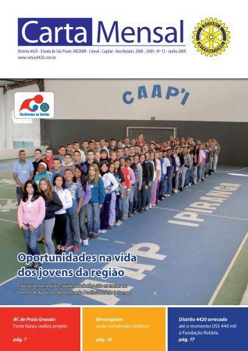 Oportunidades na vida dos jovens da região - Distrito 4420