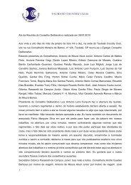 Ata da Reunião do Conselho Deliberativo realizada em 07/08 ... - TCC
