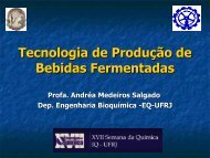 Tecnologia de Produção de Bebidas Fermentadas - XXI Semana da ...