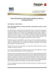 Resumo das palestras do XXI Congresso Brasileiro de ... - Brasil Brau