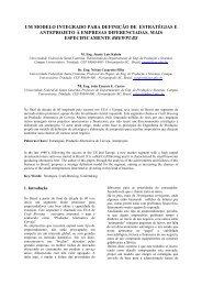 um modelo integrado para definição de estratégias e ... - Sebrae-PB