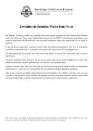 Exemplos de Súmulas Muito Bem Feitas - BJCP
