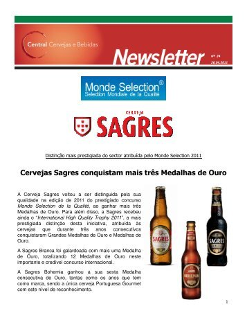 Newsletter 24_26042011_ 2011_Prémios Monde Selection Sagres