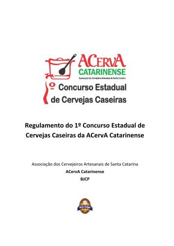 Regulamento do 1º Concurso Estadual de Cervejas Caseiras da ...