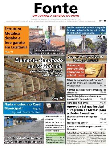 Edição 126 - Jornal Fonte