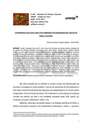 1 A REPRESENTAÇÃO DOS CONFLITOS FEMININOS ... - Unesp