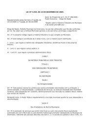 LEI Nº 4.930, DE 24 DE DEZEMBRO DE 2009. Regulamentada ...