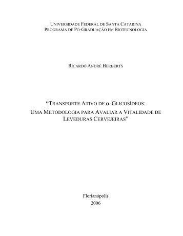 """""""TRANSPORTE ATIVO DE α-GLICOSÍDEOS: UMA METODOLOGIA ..."""