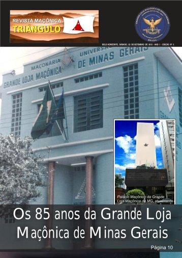 Os 85 anos da Grande Loja Maçônica de Minas Gerais