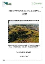 VOLUME II - RIMA - Terracap - Governo do Distrito Federal
