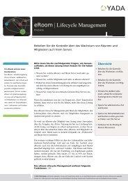 eRoom | Lifecycle Management - YADA GmbH