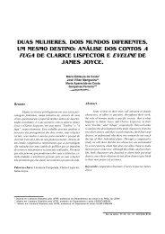 DUAS MULHERES, DOIS MUNDOS ... - Revista de Letras