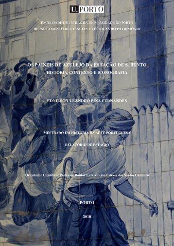 os painéis de azulejo da estação de s. bento - Repositório Aberto da ...