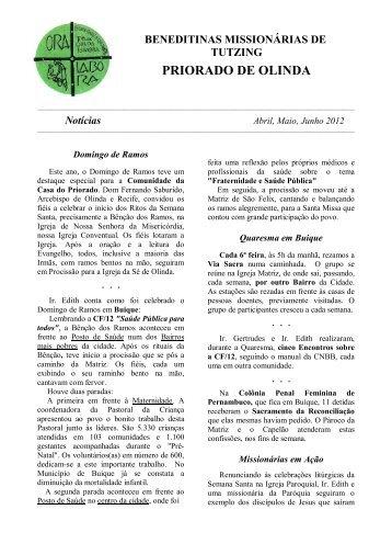 2012 Abril,Maio,Junho Notícias do Priorado