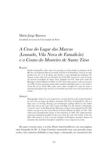 A Cruz do Lugar das Marcas (Lousado, Vila Nova de Famalicão) e o ...