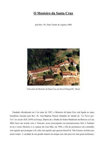 O Mosteiro da Santa Cruz - Fraternidade Sacerdotal São Pio X no ...