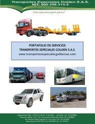 portafolio de servicios transportes especiales golden sas