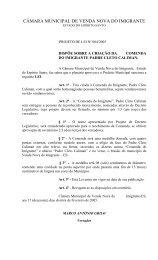 Projeto de Lei nº 004a2005 - Câmara Municipal de Venda Nova do ...