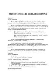 REGIMENTO INTERNO DO CONSELHO DELIBERATIVO