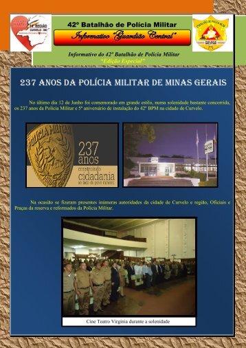"""Informativo """"Guardião Central"""" - Polícia Militar de Minas Gerais"""