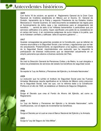 Antecedentes históricos - Issfam