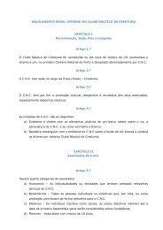 Regulamento Geral Interno do Clube Náutico de Crestuma