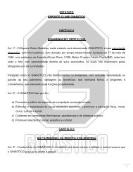 Estatuto do Esporte Clube Ginástico.