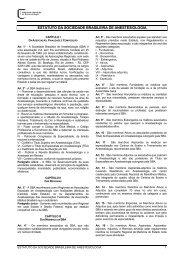 ESTATUTO DA SOCIEDADE BRASILEIRA DE ANESTESIOLOGIA